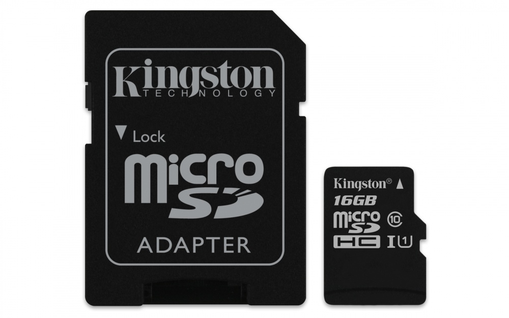 Memoria Flash Kingston Canvas Select, 16GB MicroSD UHS-I Clase 10, con Adaptador