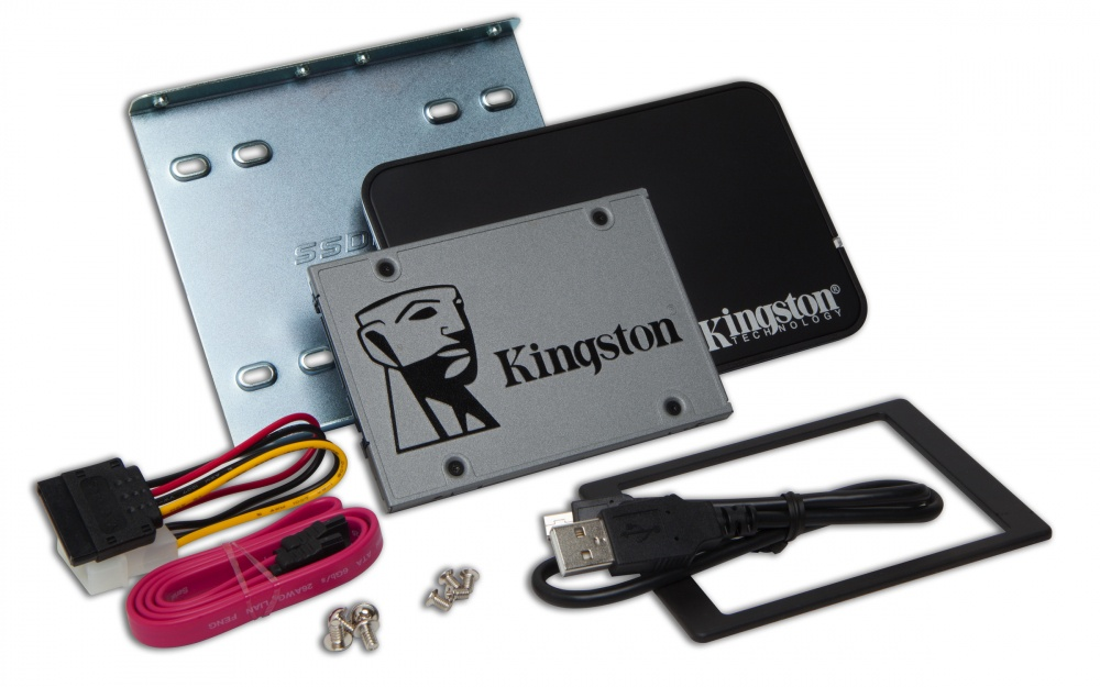 Kit SSD Kingston UV500, 960GB, SATA III, 2.5'', 7mm - Incluye Kit de Instalación