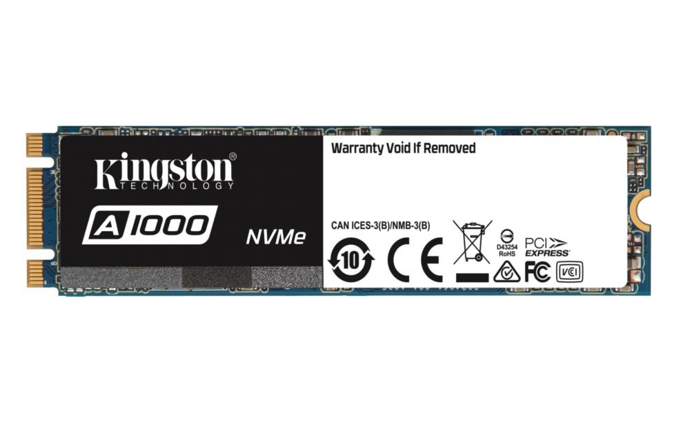 SSD Kingston A1000 NVMe, 480GB, PCI Express, M.2 ― ¡Obtén 20% de descuento al comprarlo con una laptop seleccionada!