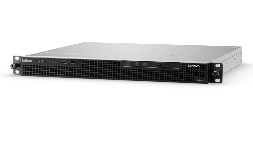 Servidor Lenovo ThinkServer RS160, Intel Xeon E3-1220V5 3GHz, 16GB DDR4, 2TB, 3.5'', SATA III, Rack 1U - no Sistema Operativo Instalado