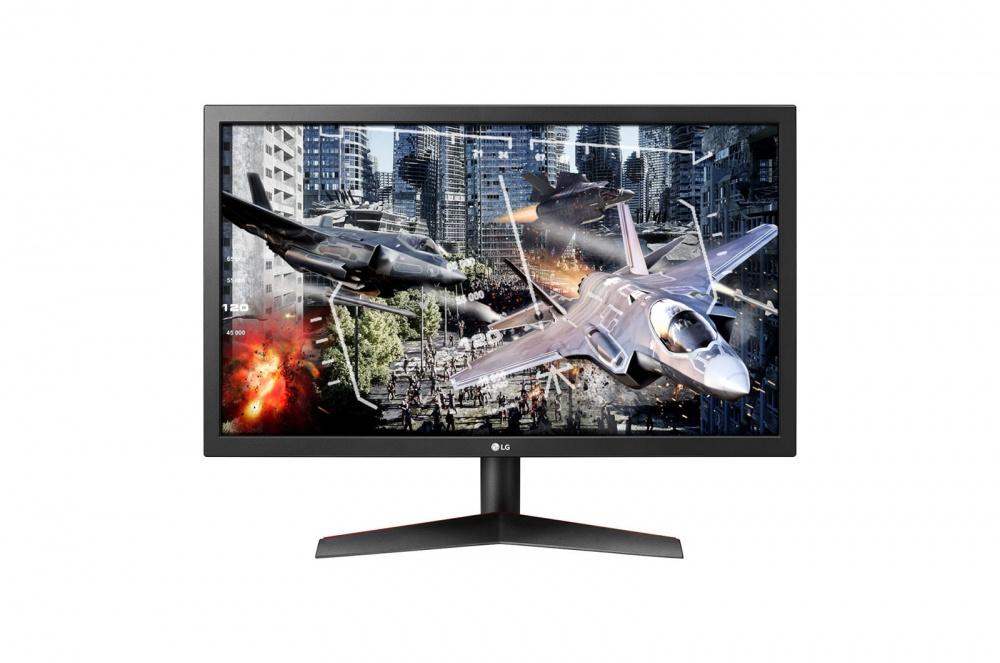"Monitor Gamer LG UltraGear LED 23.6"", Full HD, Widescreen, FreeSync, 144Hz, HDMI, Negro/Rojo"