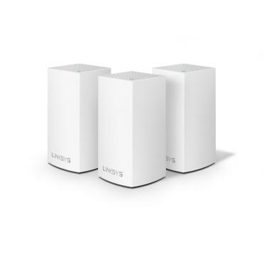 Router Linksys con Sistema de Red Wi-Fi en Malla Doble Banda Velop AC3900, 1267 Mbit/s, 2.4/5GHz, 2x RJ-45 - Kit de 3 Piezas