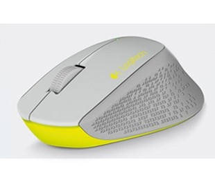 Mouse Logitech Óptico M280, Inalámbrico, 1000DPI, USB, Gris/Amarillo