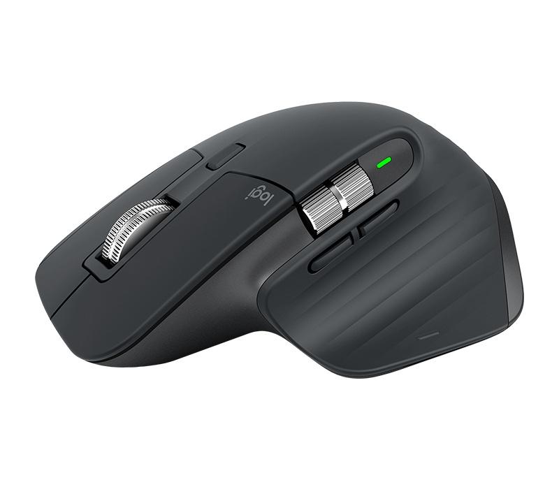Mouse Logitech Láser MX Master 3, Inalámbrico, Bluetooth, 4000DPI, Negro/Gris