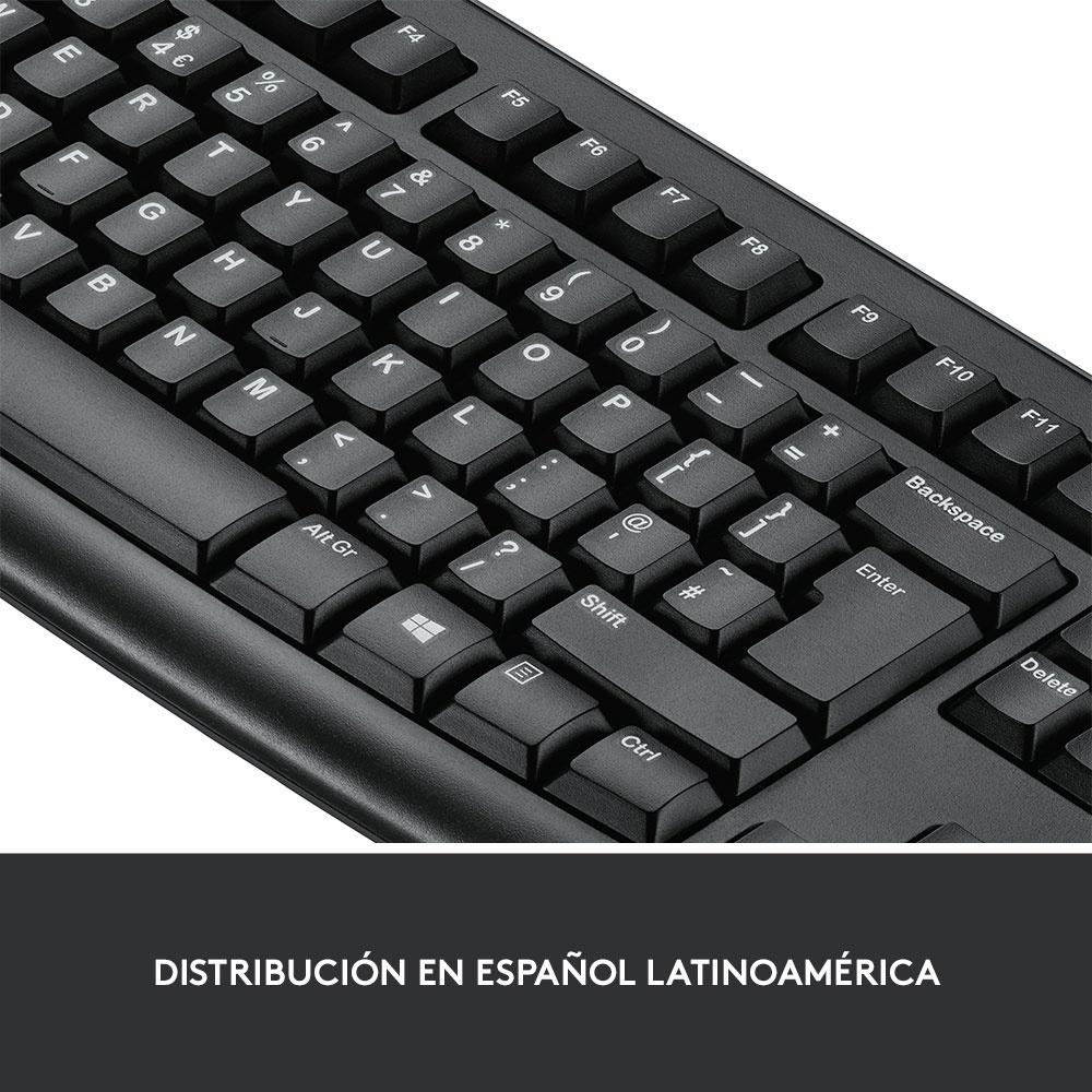 Kit de Teclado y Mouse Logitech MK270, Inalámbrico, USB, Negro (Español)