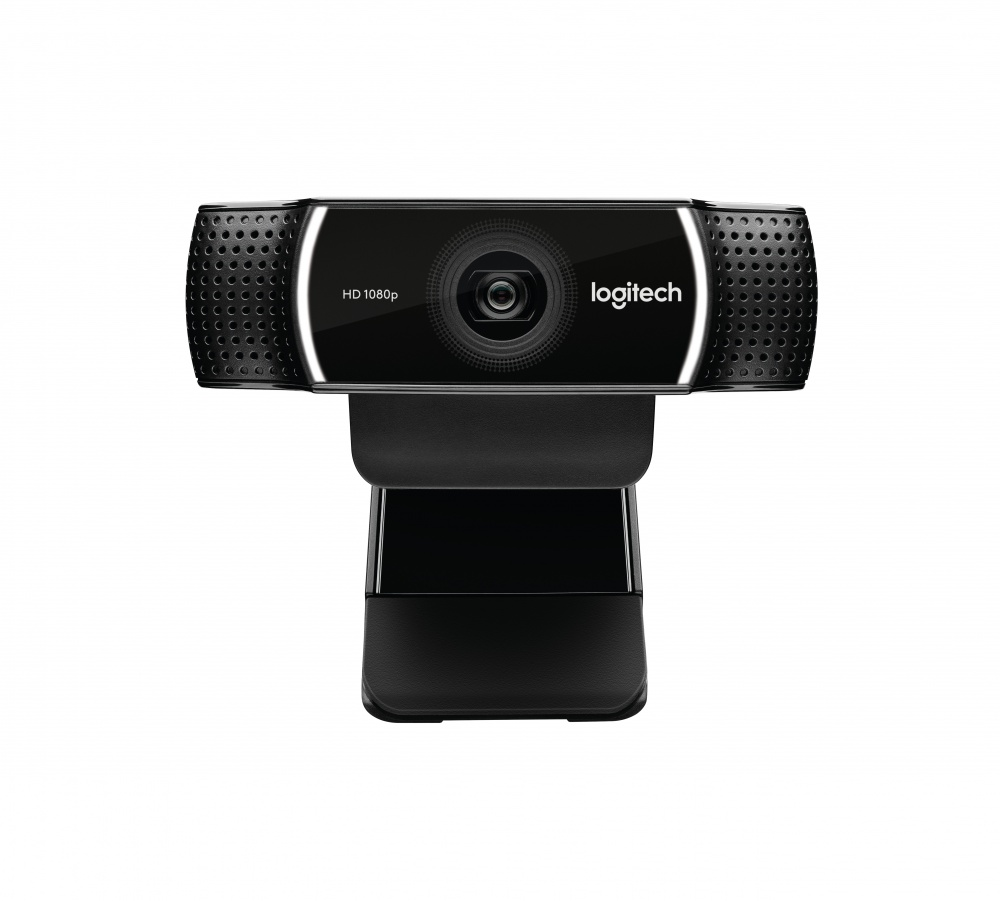 Logitech Webcam C922, 1920x1080 Pixeles, USB, Negro