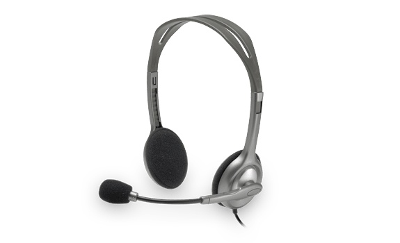 Logitech Audífonos con Micrófono H111, Alámbrico, 1.8 Metros, 3.5mm, Gris