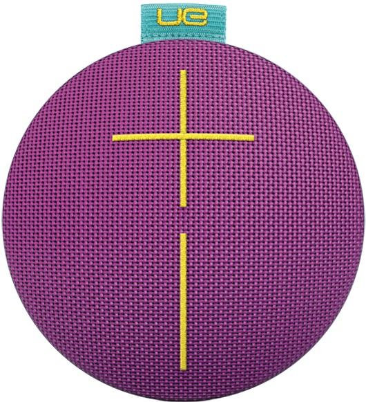 Logitech Bocina Portátil UE ROLL 2, Bluetooth, Inalámbrico, Turquesa/Violeta - Resistente al Agua