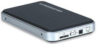 "Manhattan Gabinete de Disco Duro 130257 para 2.5"", SATA, USB 3.0, Negro"