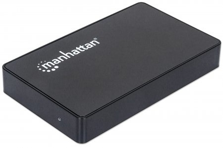 Manhattan Gabinete de Disco Duro 130349, 2.5'', SATA, USB 3.0, Negro