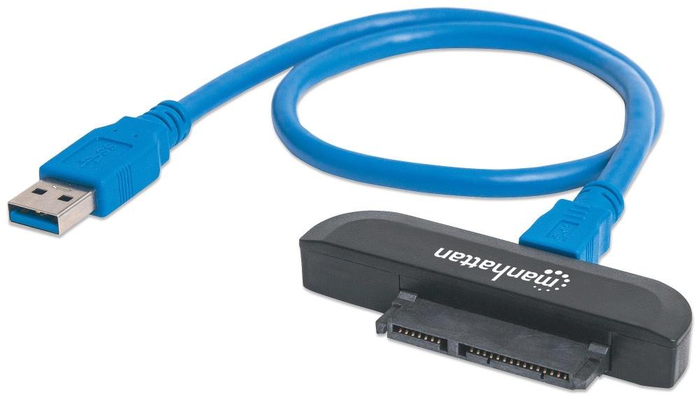 Manhattan Adaptador SuperSpeed USB 3.0 Macho - SATA 2.5'' Macho, 40cm