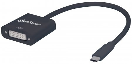 Manhattan Adaptador USB-C 3.1 Macho - DVI Hembra, Negro