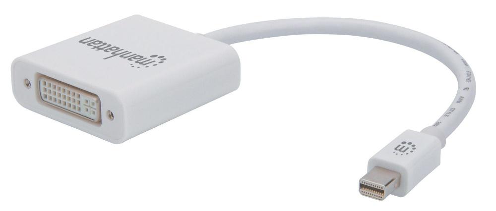 Manhattan Adaptador Mini DisplayPort Macho - DVI-I Hembra, Blanco