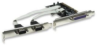 Manhattan Tarjeta PCI 158251, Alámbrico, con 2 puertos DB9 y 1 puerto Paralelo