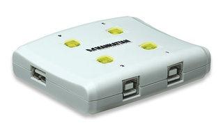 Manhattan Hi-Speed Switch USB 2.0 162012, 4 Puertos