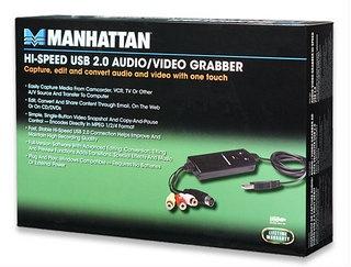 Manhattan Convertidor USB-RCA, Negro
