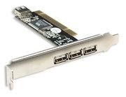 Manhattan Tarjeta PCI 169011, 480 Mbit/s, USB 2.0, 3 Puertos Externos, 1 Puertos Interno