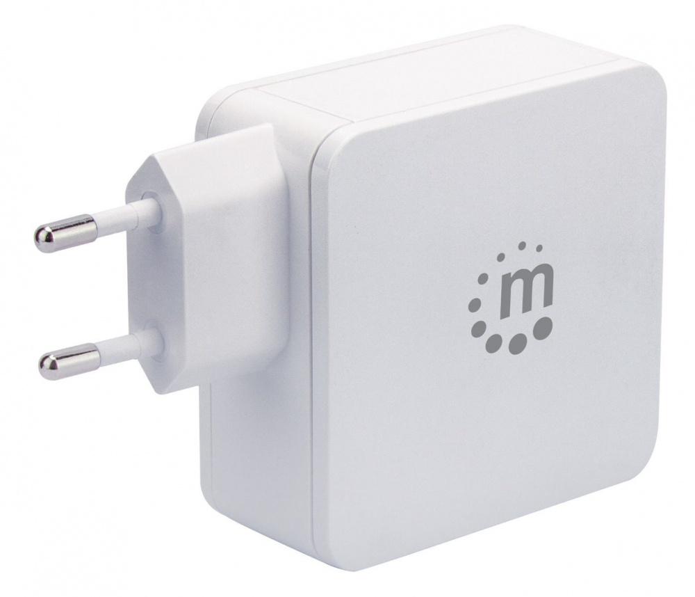 Manhattan Cargador de Pared 180221, 5V, 1x USB 2.0, Blanco