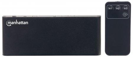 Manhattan Video Splitter HDMI 4K de 3 Puertos, Negro