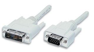 Manhattan Cable DVI A Macho - HD15 Macho, 1.8 Metros, Blanco