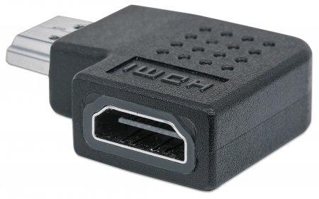 Manhattan Adaptador HDMI A Hembra - HDMI A Macho, Ángulo Derecho de 90°