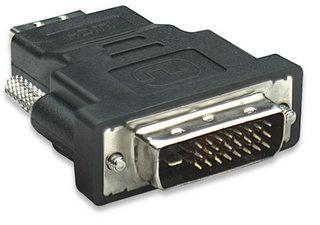 Manhattan Adaptador DVI-D - HDMI, Negro