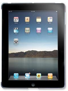 Manhattan Cubierta Rigida Snap-Fit Shell para iPad, Azul Transparente