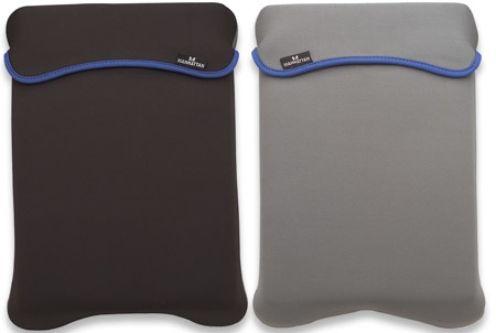 Manhattan Funda Reversible de Poliester pareae Laptop 12.1'' Negro/Gris