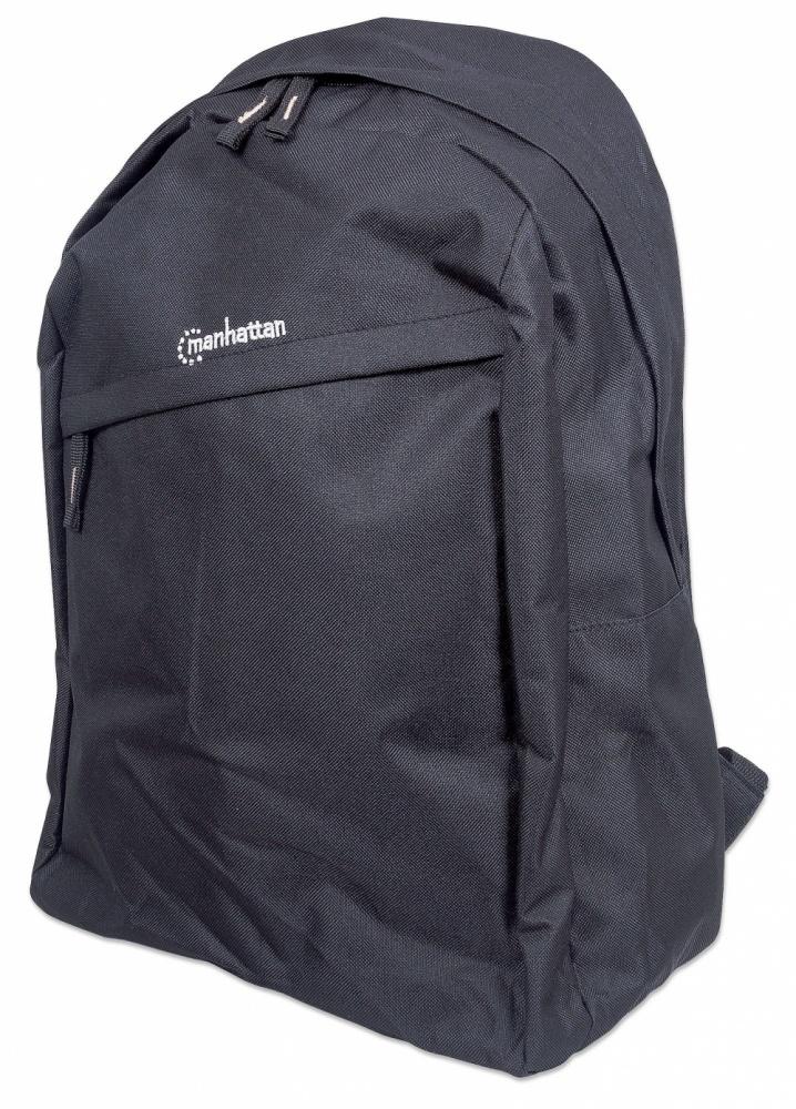 Manhattan Mochila Knappack de PVC/Poliester para Laptop 15.6'' Negro