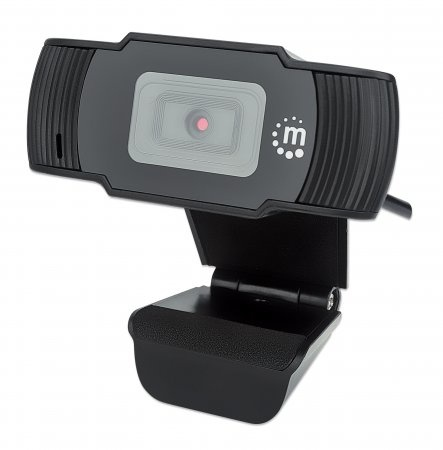 Manhattan Webcam 462006, 2MP, 1920 x 1080 Pixeles, USB 2.0, Negro