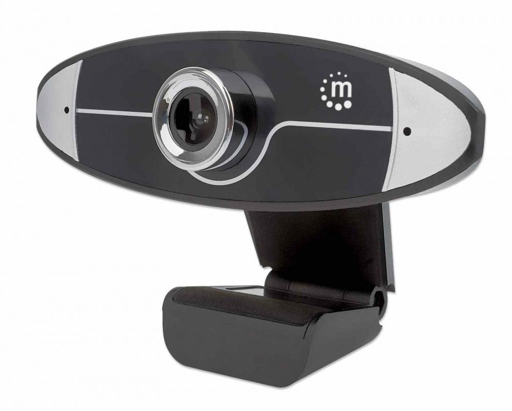 Manhattan Webcam 462013, 1MP, 1280 x 720 Pixeles, USB 2.0, Negro
