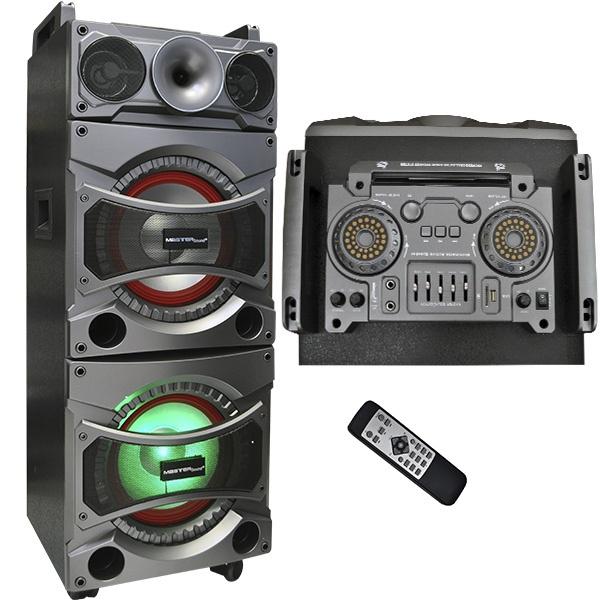 Master Bafle MAHM-10AX2SD, Bluetooth, Inalámbrico, 700W RMS, USB, Negro