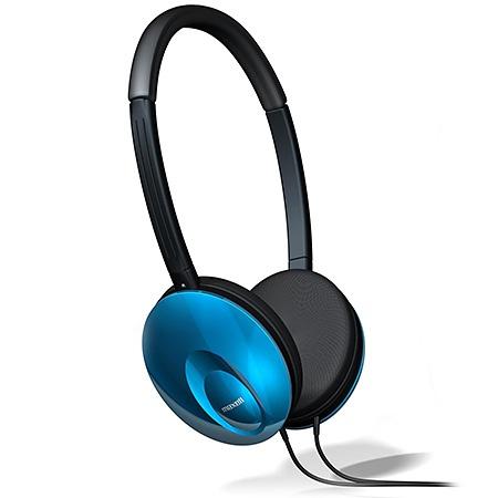 Maxell Audífonos UltraThins, Alámbrico, Azul