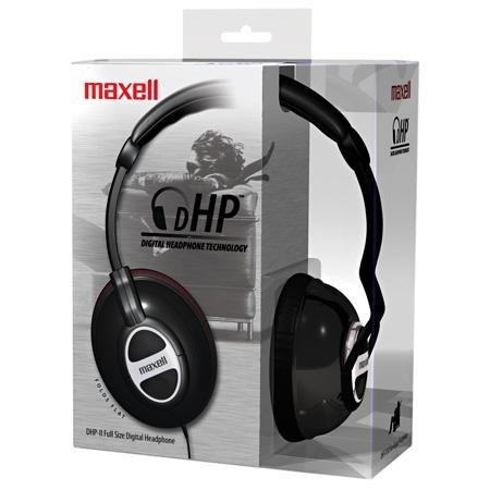 Maxell Audífonos DHP-II, Alámbrico, 3.5mm, Negro