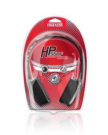 Maxell Audífonos HP-550F, Alámbrico, 1.52 Metros, Negro/Gris