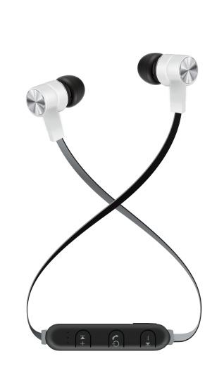Maxell Audífonos Intrauriculares con Micrófono Bass 13 B13-EB2, Inalámbrico, Bluetooth, Blanco/Negro