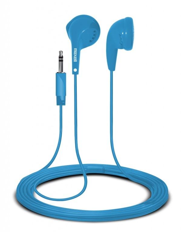 Maxell Audífonos Intrauricurales EB-95, Alámbrico, Azul