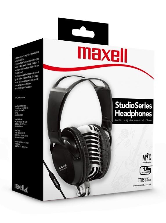 Maxell Audífonos ST-2000, Alámbrico, 1.8 Metros, 3.5mm, Negro
