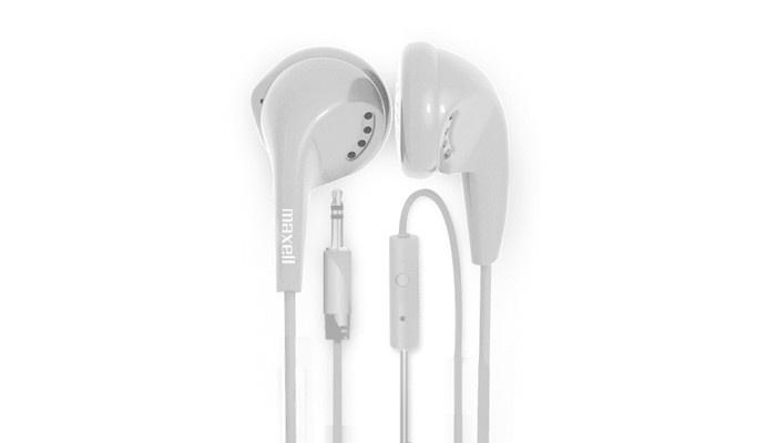 Maxell Audífonos EB-MIC, Alámbrico, 1 Metro, 3.5mm, Blanco