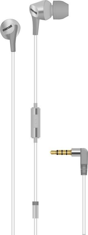 Maxell Audífonos Intrauriculares con Micrófono Fusion, Alámbrico, 3.5mm, Plata