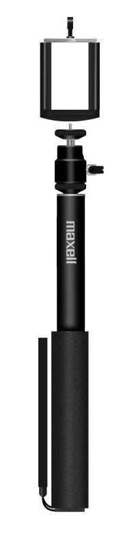 Maxell Selfie Stick Retractil Aluminio, 75cm, Negro