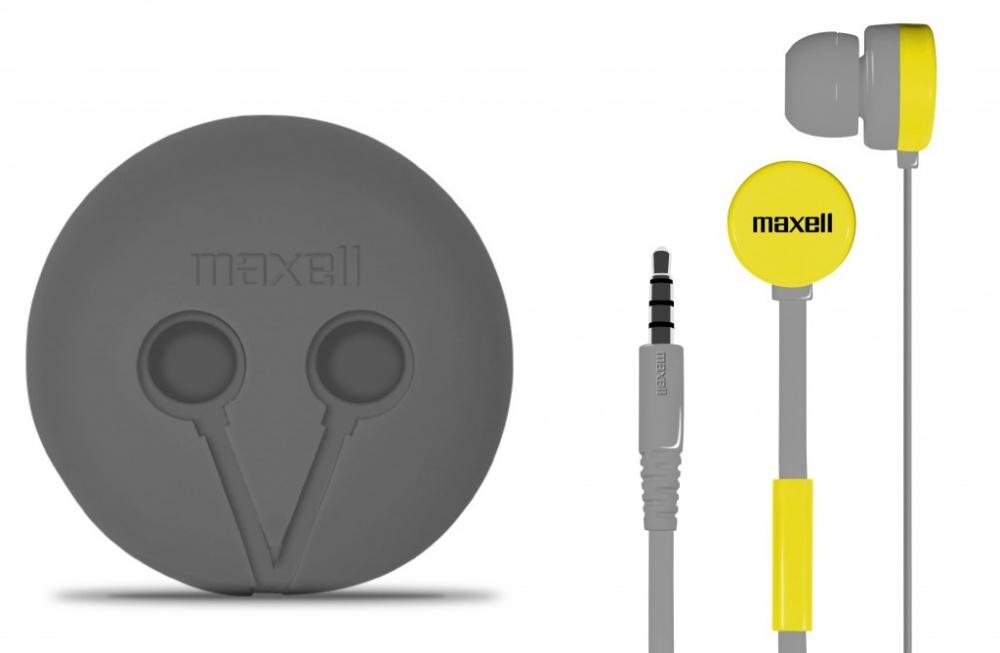 Maxell Audífonos Intrauriculares con Micrófono WR-360, Alámbrico, 1.2 Metros, Gris