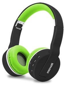 Maxell Audífonos con Mifrófono MXH-BT800, Bluetooth, Inalámbrico, 3.5mm, Negro/Verde