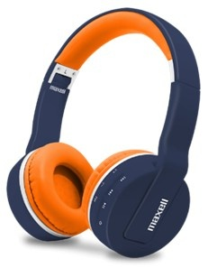 Maxell Audífonos con Mifrófono MXH-BT800, Bluetooth, Inalámbrico, 3.5mm, Negro/Naranja