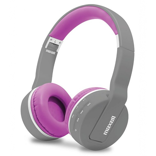 Maxell Audífonos con Mifrófono MXH-BT800, Bluetooth, Inalámbrico, 3.5mm, Gris/Púrpura