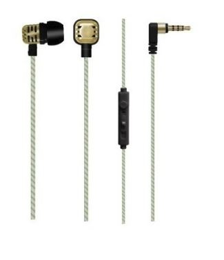 Maxell Audífonos Intrauriculares con Micrófono Solid2, Alámbrico, 1.2 Metros, 3.5mm, Oro