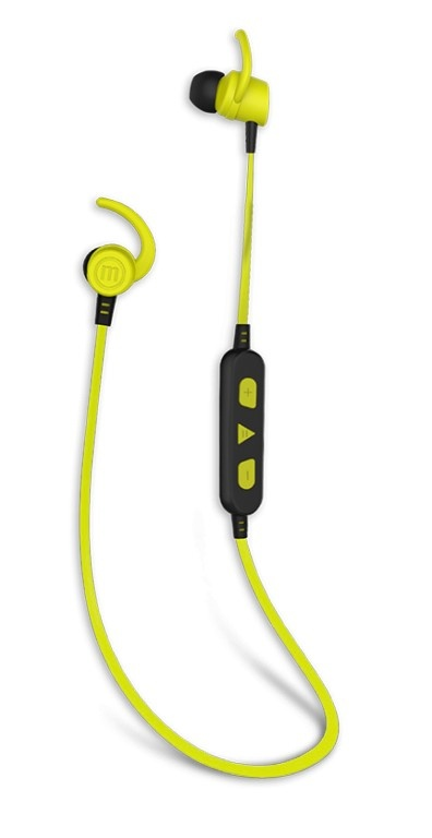 Maxell Audífonos Intrauriculares Solid, Inalámbrico, Bluetooth, Negro/Verde