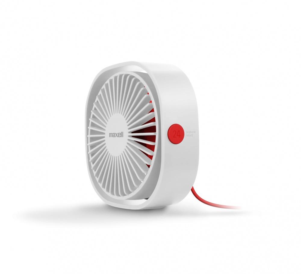 Maxell Ventilador USB DeskFan, 3 Velocidades, Blanco