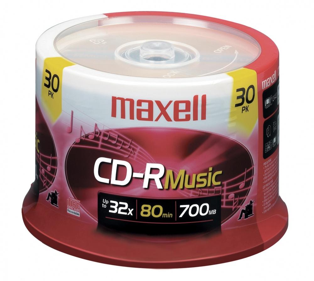 Maxell Torre de Discos Virgenes para CD, CD-R, 48x, 700MB - 30 Piezas