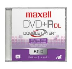 Maxell Disco Virgen para DVD, DVD+R Double Layer, 8.5GB